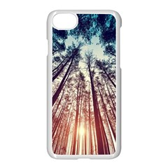 Up View Forest Apple Iphone 7 Seamless Case (white) by Brittlevirginclothing