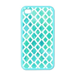 Blue Mosaic  Apple Iphone 4 Case (color) by Brittlevirginclothing