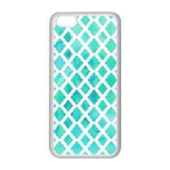 Blue Mosaic  Apple Iphone 5c Seamless Case (white) by Brittlevirginclothing
