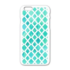 Blue Mosaic  Apple Iphone 6/6s White Enamel Case by Brittlevirginclothing