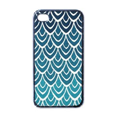 Blue Fish Sclaes  Apple Iphone 4 Case (black) by Brittlevirginclothing