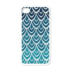 Blue Fish Sclaes  Apple Iphone 4 Case (white) by Brittlevirginclothing