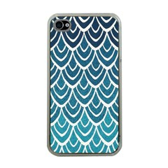 Blue Fish Sclaes  Apple Iphone 4 Case (clear) by Brittlevirginclothing