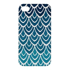 Blue Fish Sclaes  Apple Iphone 4/4s Hardshell Case by Brittlevirginclothing