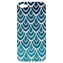 Blue Fish Sclaes  Apple Iphone 5 Hardshell Case by Brittlevirginclothing