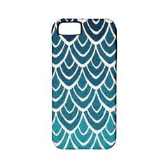 Blue Fish Sclaes  Apple Iphone 5 Classic Hardshell Case (pc+silicone) by Brittlevirginclothing