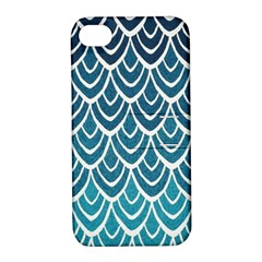 Blue Fish Sclaes  Apple Iphone 4/4s Hardshell Case With Stand by Brittlevirginclothing