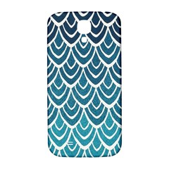 Blue Fish Sclaes  Samsung Galaxy S4 I9500/i9505  Hardshell Back Case by Brittlevirginclothing