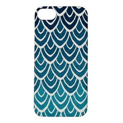 Blue Fish Sclaes  Apple Iphone 5s/ Se Hardshell Case by Brittlevirginclothing