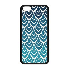Blue Fish Sclaes  Apple Iphone 5c Seamless Case (black) by Brittlevirginclothing