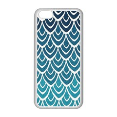Blue Fish Sclaes  Apple Iphone 5c Seamless Case (white)
