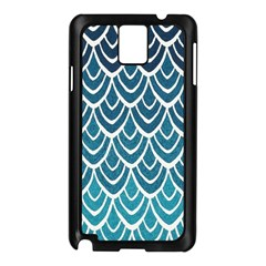 Blue Fish Sclaes  Samsung Galaxy Note 3 N9005 Case (black) by Brittlevirginclothing