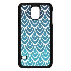 Blue Fish Sclaes  Samsung Galaxy S5 Case (black) by Brittlevirginclothing