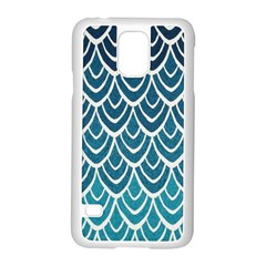Blue Fish Sclaes  Samsung Galaxy S5 Case (white) by Brittlevirginclothing