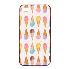 Cute Ice Cream Apple Iphone 4/4s Seamless Case (black) by Brittlevirginclothing