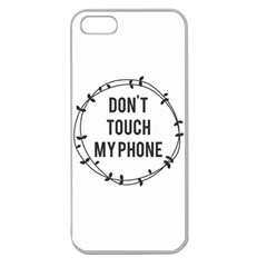 Don t Touch My Phone Apple Seamless Iphone 5 Case (clear)