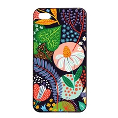 Japanese Inspired Apple Iphone 4/4s Seamless Case (black)