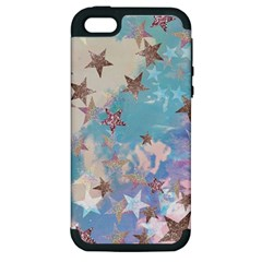 Pastel Stars Apple Iphone 5 Hardshell Case (pc+silicone) by Brittlevirginclothing
