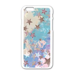 Pastel Stars Apple Iphone 6/6s White Enamel Case by Brittlevirginclothing