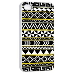 Black Bohemian Apple Iphone 4/4s Seamless Case (white)