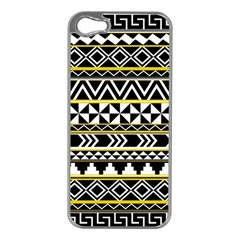 Black Bohemian Apple Iphone 5 Case (silver) by Brittlevirginclothing