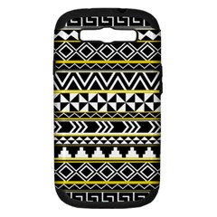 Black Bohemian Samsung Galaxy S Iii Hardshell Case (pc+silicone) by Brittlevirginclothing
