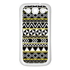 Black Bohemian Samsung Galaxy S3 Back Case (white)