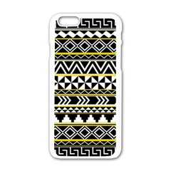 Black Bohemian Apple Iphone 6/6s White Enamel Case by Brittlevirginclothing