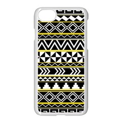 Black Bohemian Apple Iphone 7 Seamless Case (white) by Brittlevirginclothing