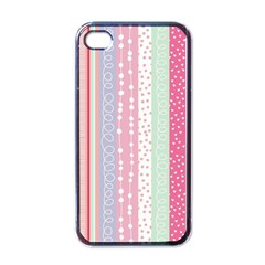 Pastel Colored  Wood Apple Iphone 4 Case (black) by Brittlevirginclothing