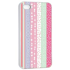 Pastel Colored  Wood Apple Iphone 4/4s Seamless Case (white)