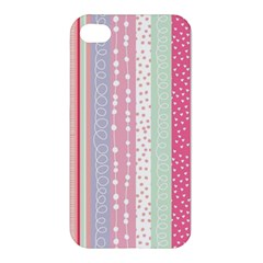 Pastel Colored  Wood Apple Iphone 4/4s Premium Hardshell Case by Brittlevirginclothing
