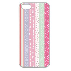 Pastel Colored  Wood Apple Seamless Iphone 5 Case (clear) by Brittlevirginclothing