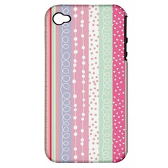 Pastel Colored  Wood Apple Iphone 4/4s Hardshell Case (pc+silicone)