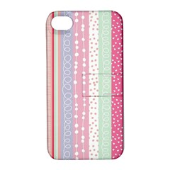 Pastel Colored  Wood Apple Iphone 4/4s Hardshell Case With Stand by Brittlevirginclothing
