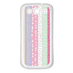 Pastel Colored  Wood Samsung Galaxy S3 Back Case (white) by Brittlevirginclothing