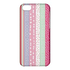 Pastel Colored  Wood Apple Iphone 5c Hardshell Case