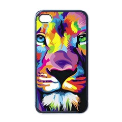 Colorful Lion Apple Iphone 4 Case (black) by Brittlevirginclothing