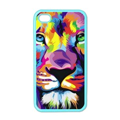 Colorful Lion Apple Iphone 4 Case (color) by Brittlevirginclothing