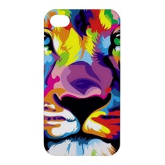 Colorful Lion Apple Iphone 4/4s Premium Hardshell Case by Brittlevirginclothing