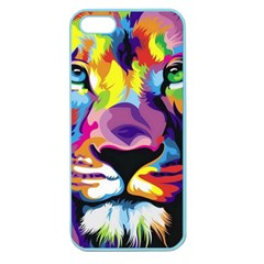 Colorful Lion Apple Seamless Iphone 5 Case (color) by Brittlevirginclothing