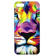 Colorful Lion Apple Iphone 5 Hardshell Case With Stand by Brittlevirginclothing