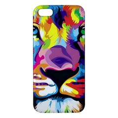Colorful Lion Apple Iphone 5 Premium Hardshell Case