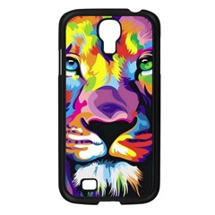 Colorful Lion Samsung Galaxy S4 I9500/ I9505 Case (black) by Brittlevirginclothing