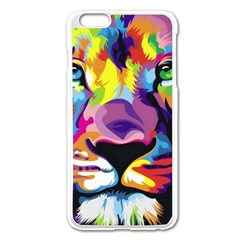 Colorful Lion Apple Iphone 6 Plus/6s Plus Enamel White Case
