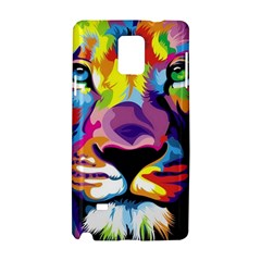 Colorful Lion Samsung Galaxy Note 4 Hardshell Case by Brittlevirginclothing