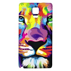 Colorful Lion Galaxy Note 4 Back Case by Brittlevirginclothing