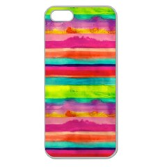 Painted Wet Paper Apple Seamless Iphone 5 Case (clear)