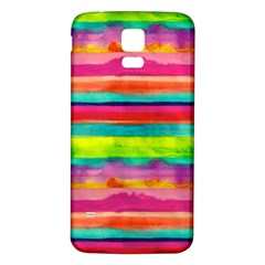 Painted Wet Paper Samsung Galaxy S5 Back Case (white)