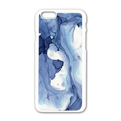 Paint In Water Apple Iphone 6/6s White Enamel Case by Brittlevirginclothing
